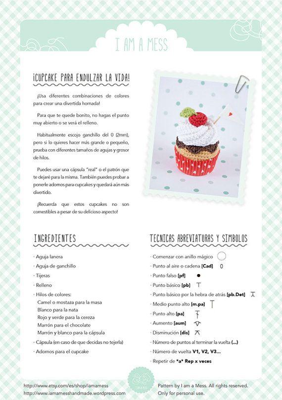 Cupcake crochet PATTERN. \