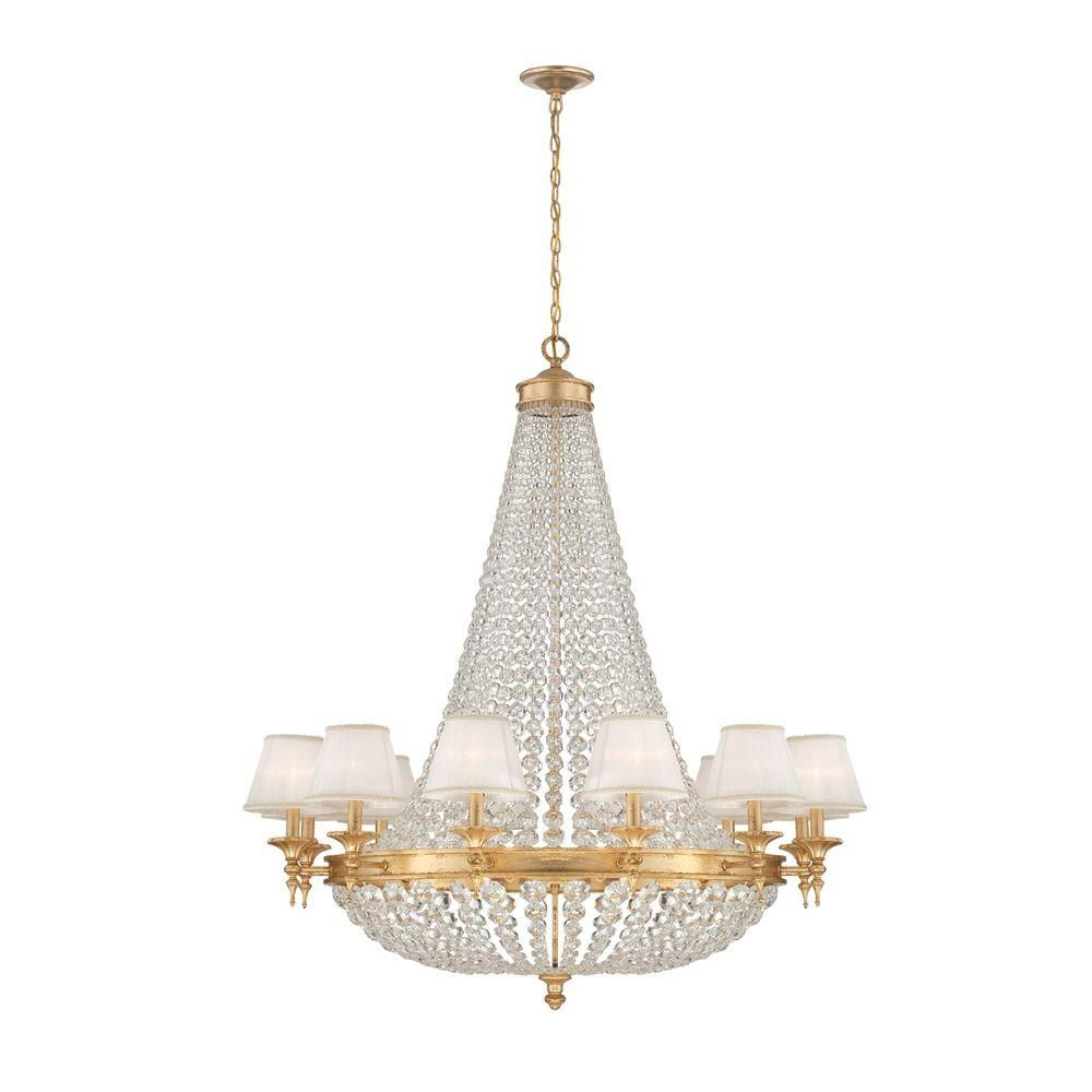 Eurofase Pietra Collection 18-Light Gold Chandelier
