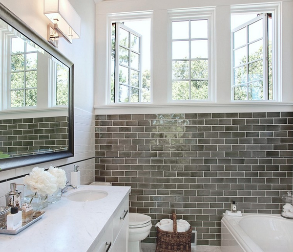 Bathroom Gray Subway Tile subway tile shower ideas | few subway tiled bathrooms i cannot get