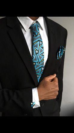 Couleur noire Hommes Cravate Accessoires avec boutons de manchette Hankerchief Hommes Bal Cravate Set