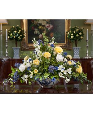 Rose Lilac Delphinium Silk Centerpiece Large Flower Arrangements Artificial Flower Arrangements Flower Arrangements