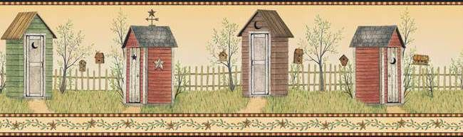 Interior Place - Black Country Outhouse Wallpaper Border, $29.99 ...