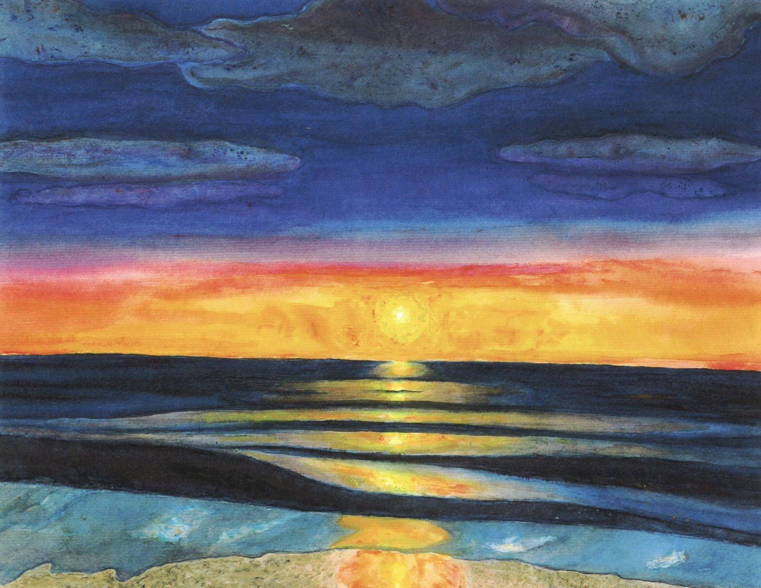 watercolor painting...sunset or sunrise? | The World As I ...