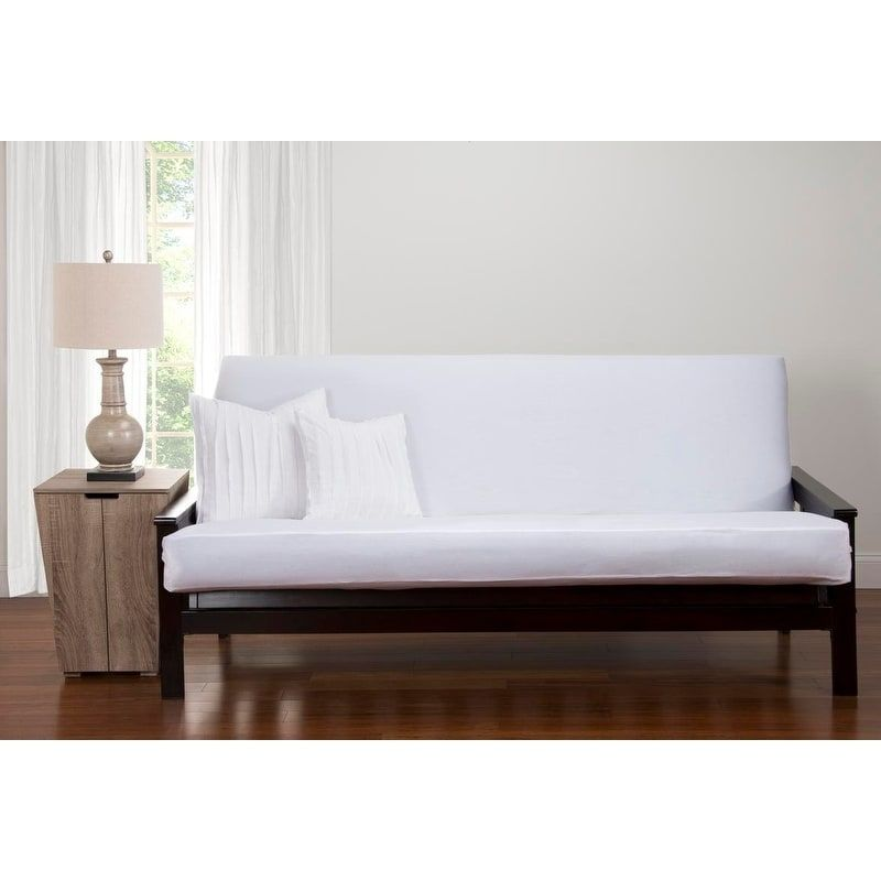 Siscovers Classic Cotton Full Size Futon Cover Stretch Fit Blue Products Full Size Futon