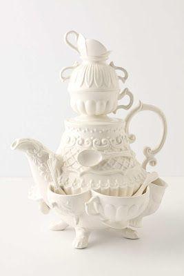 wo fängt die Kanne an, wo hört die Tasse auf? Eindeutig wunderlich. #teapotset