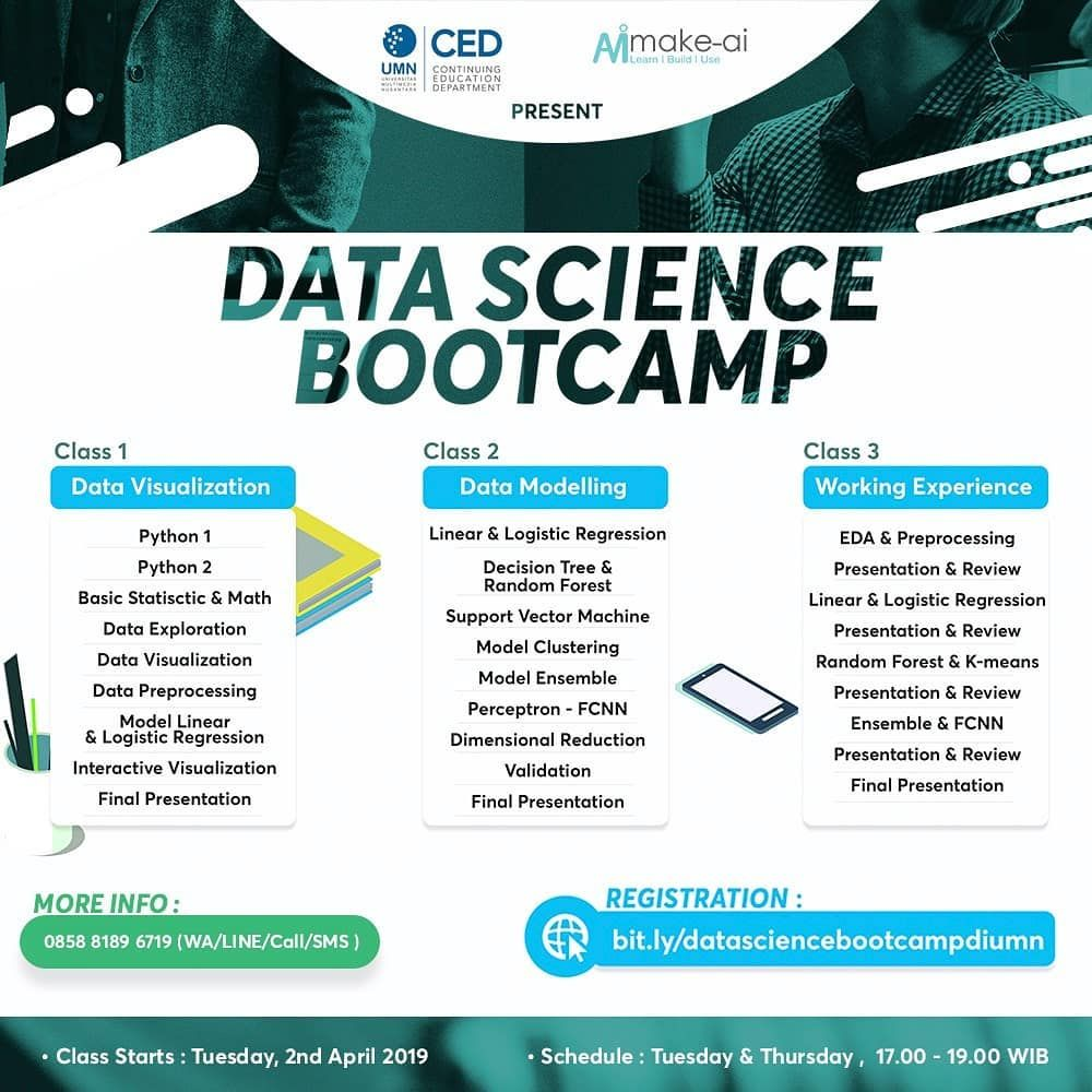 Data Science Bootcamp Make.ai adalah sebuah pelatihan