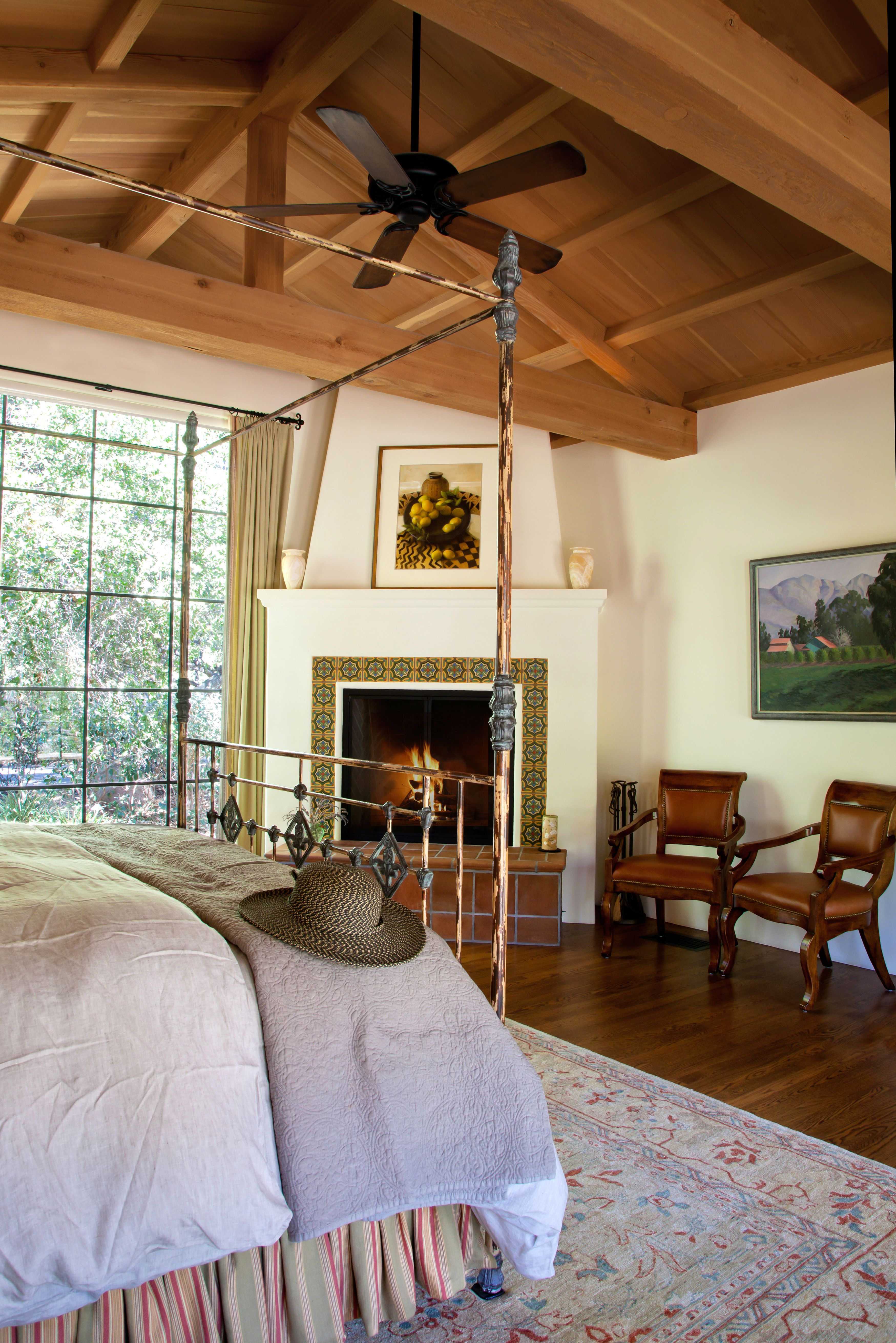 Plaster Fireplace In Gw Smith Addition Master Bedrooms Decor Mediterranean Bedroom Farmhouse Master Bedroom