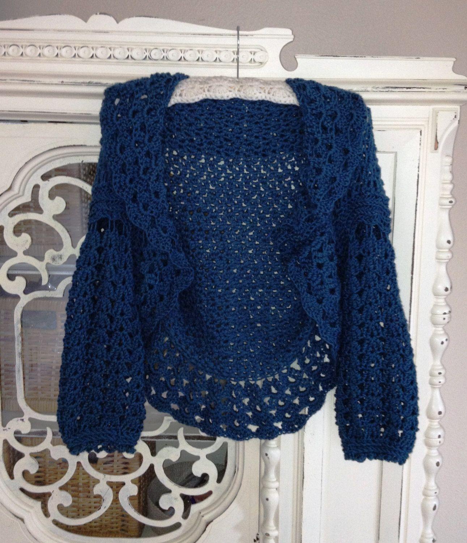 Crochet Pattern PDF Coastal Cardi Shrug Women or by needlemaven, $5.95