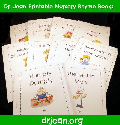 printable nursery rhyme books and charts - First Grade Printable Books