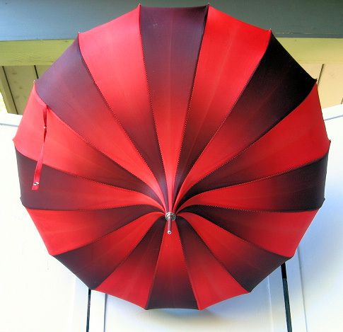 ombre red umbrella