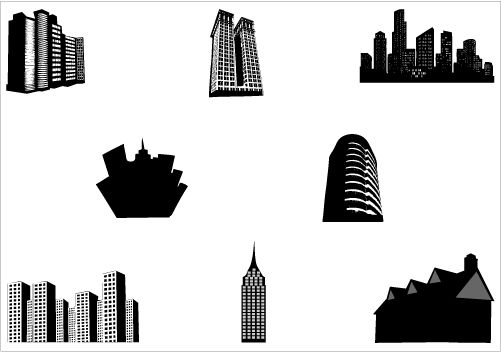 building silhouette vector graphics | silhouettesclipart