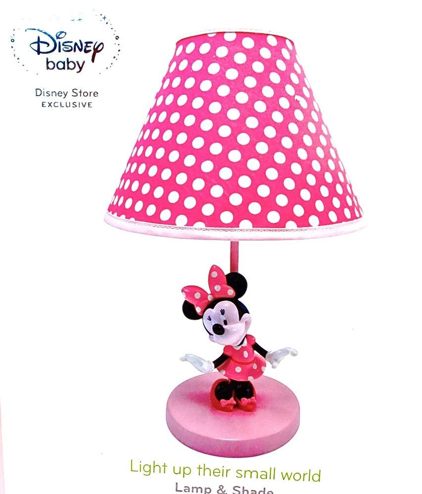 disney minnie mouse table lamp minnie mouse on pink base. Black Bedroom Furniture Sets. Home Design Ideas