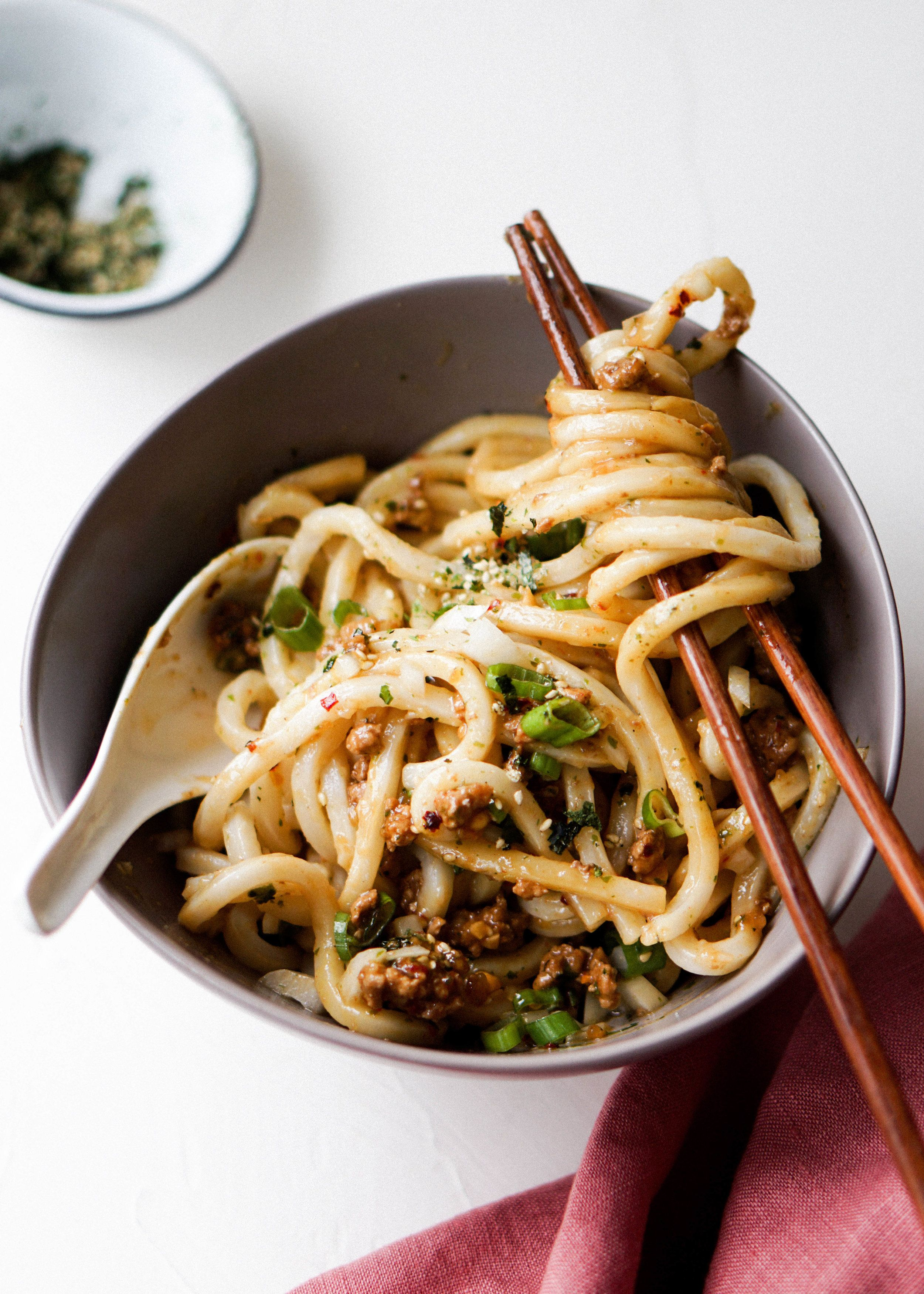 Spicy Pork Mazesoba — Eat Cho Food in 2020 | Noodle ...