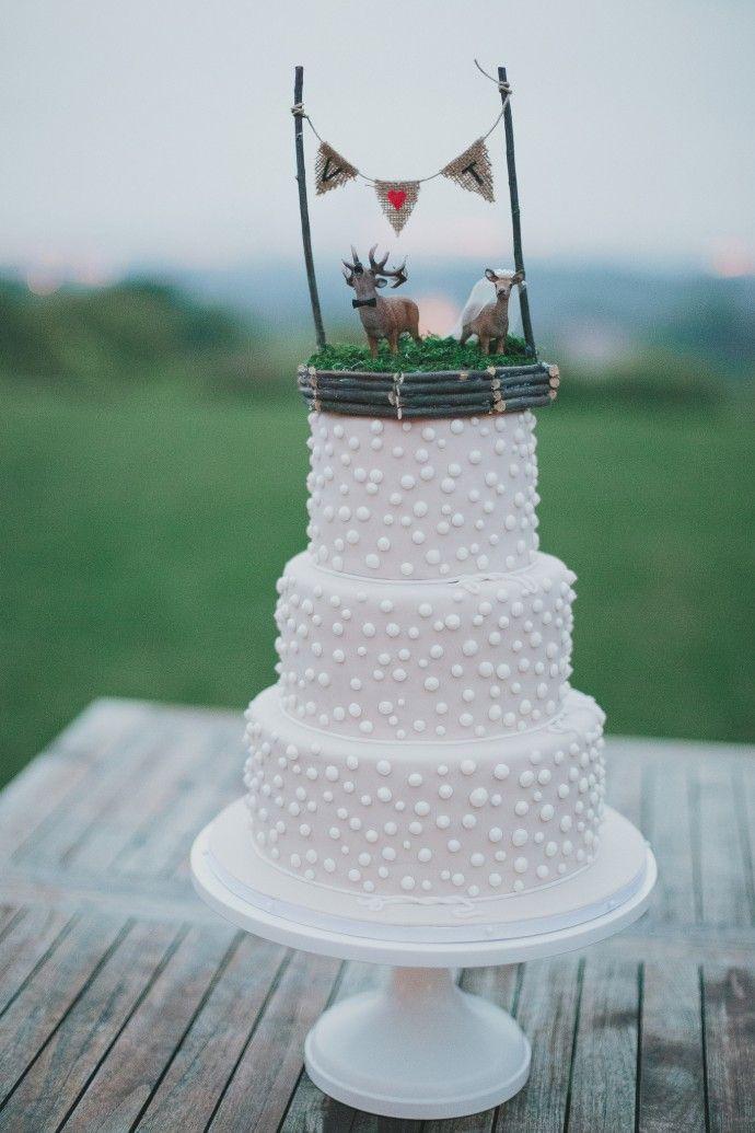 White Wedding Cake Weisse Hochzeitstorte Elegant Rustikale