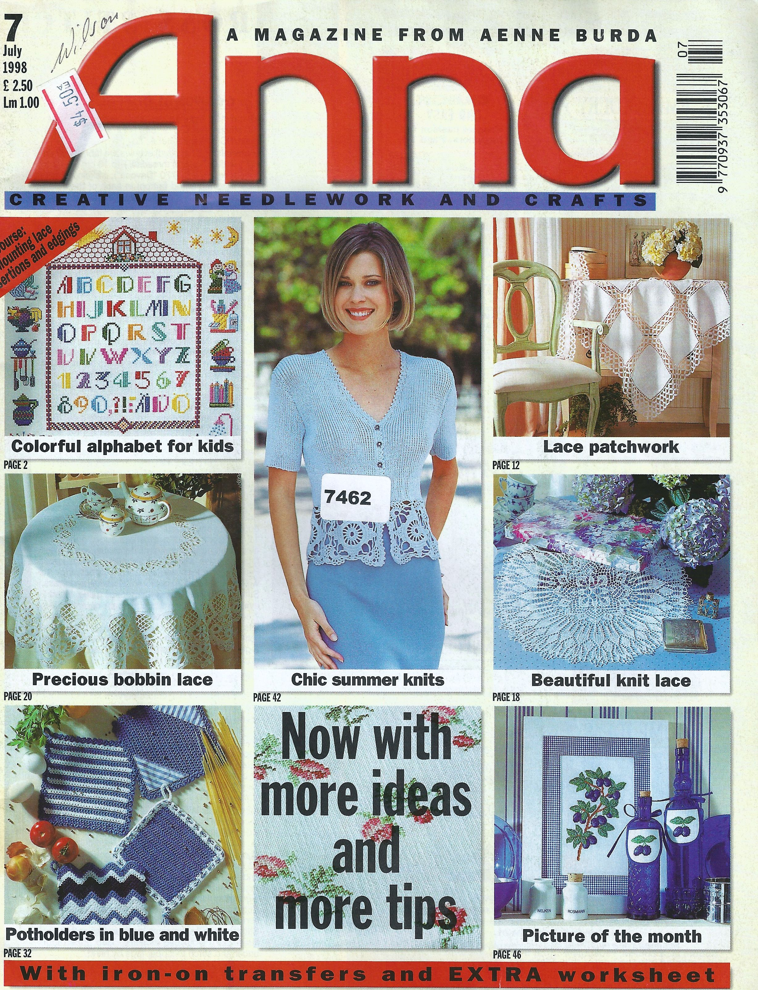 Macram crochet lace from the july 1998 edition of anna burda macram crochet lace from the july 1998 edition of anna burda bankloansurffo Images