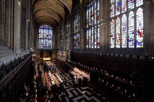 The Choir Of Kings College Cambridge Conduct A Rehearsal Their Christmas Eve Service Festival Nine Lessons And Carols In Chapel