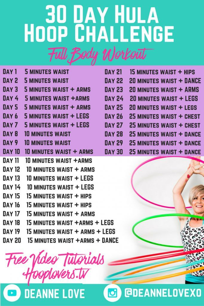 30 Day Hula Hoop Challenge Hula Hoop Full Body Workout Fit