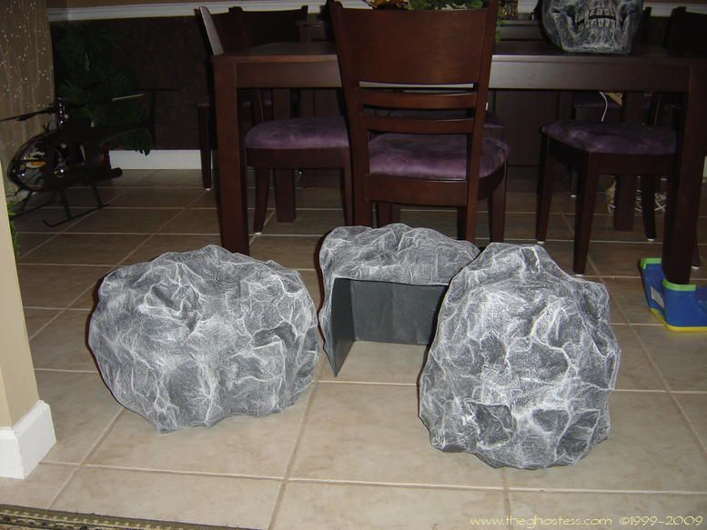rock on how to make fake rock from cardboard phone book n tape diy craft n handmade goodies. Black Bedroom Furniture Sets. Home Design Ideas