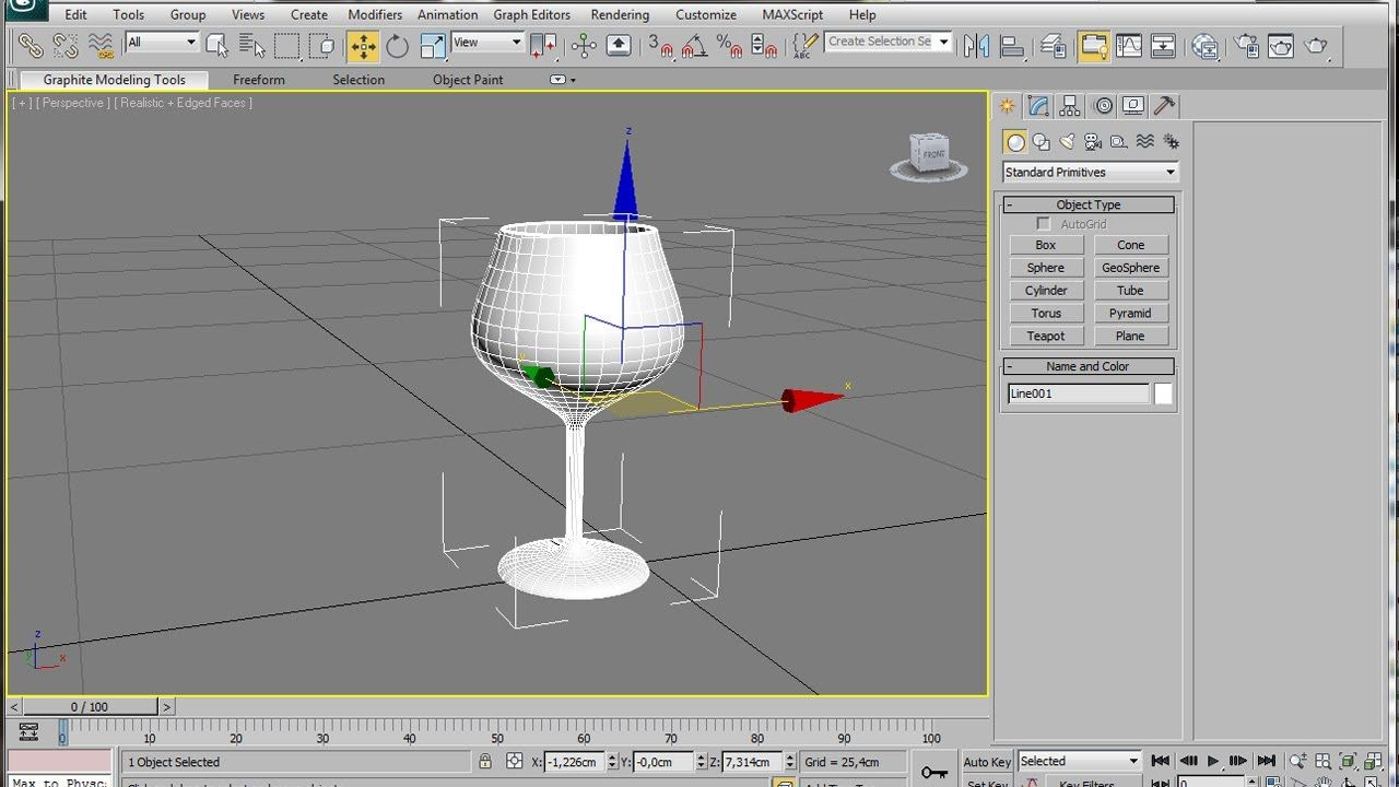 3ds Max Spline Modeling A Wine Glass | 3dmax tutorial | 3ds