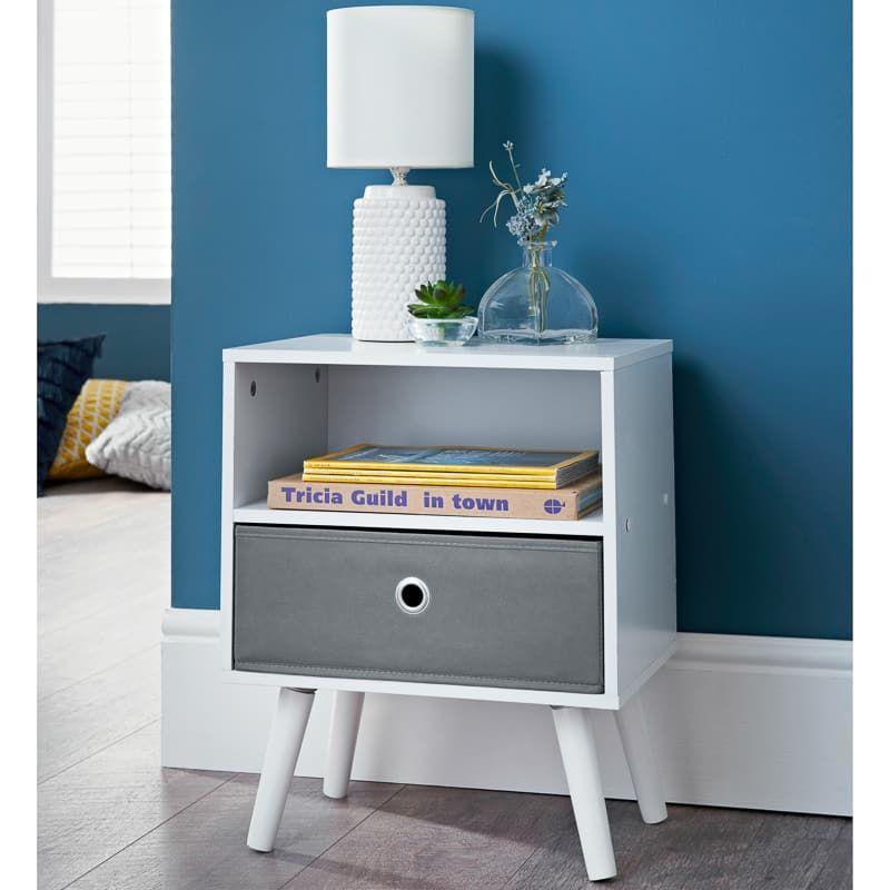 Malmo Bedside Cabinet In 2020 Bedside Cabinet Flat Decor Furniture