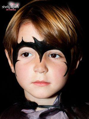 איפור תחפושת באטמן לפורים