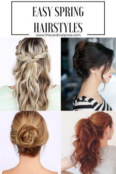 Easy To Do Hairstyles Beauteous Mar 27 5 Easy Spring Hairstyles  Super Easy Hairstyles Easy