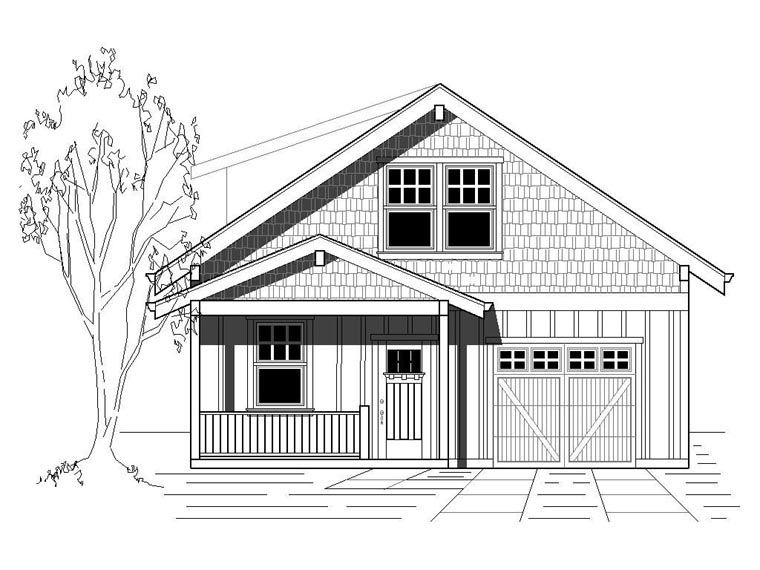 House Plan 76831 | Bungalow Cottage Craftsman Plan with 1850 Sq. Ft on 1825 sq ft. house plans, 1850 sq ft home, stair drawer plans, floor plans, 3 beds house plans,