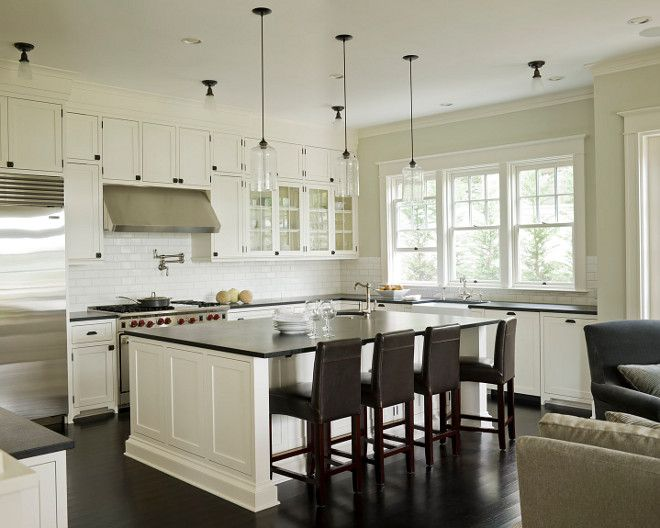 White kitchen cabinets painted benjamin Moore Cloud White ...