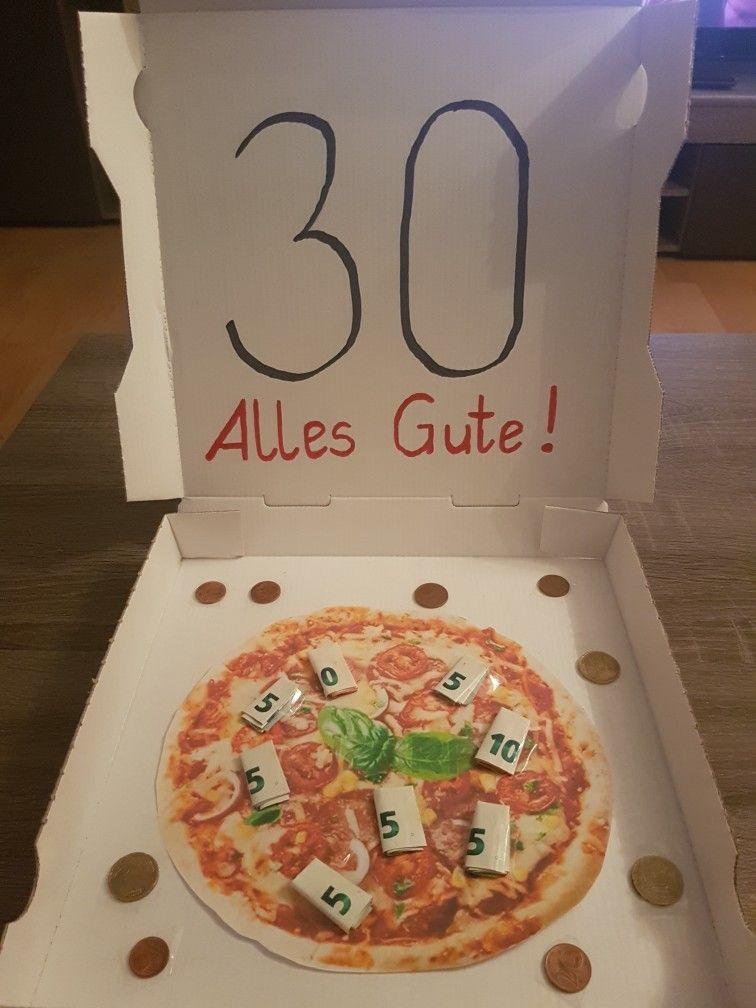 Geldgeschenk Pizza 30 Geburtstag Geld Pinnwand