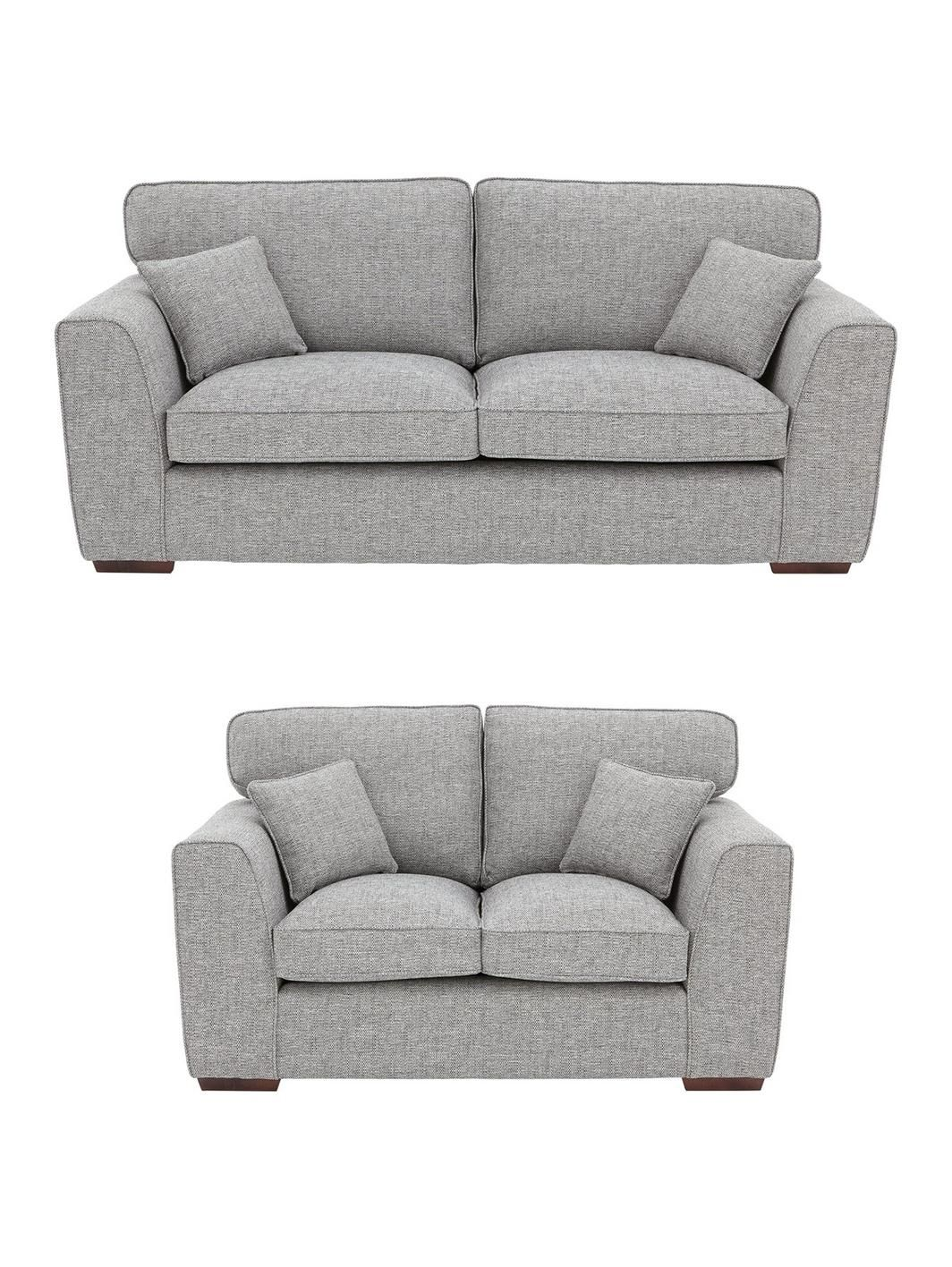 Rio 3 Seater 2 Seater Standard Back Fabric Sofa Set Buy And Save
