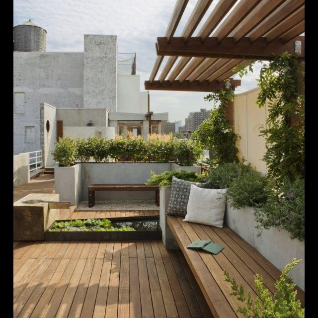 Metro garden gardening decoracion terraza terraza - Estanque terraza piso ...