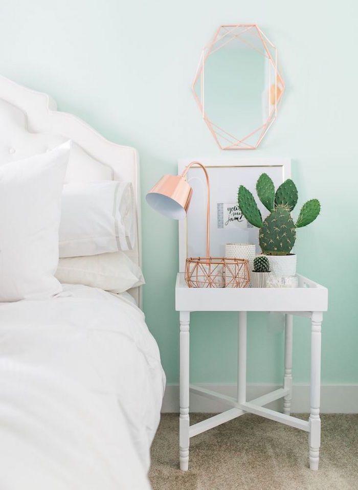 Frisches und modernes Dekor im Grün der Minze Zimmer