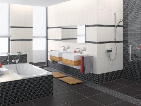 badezimmer weis anthrazit – topby, Deko ideen