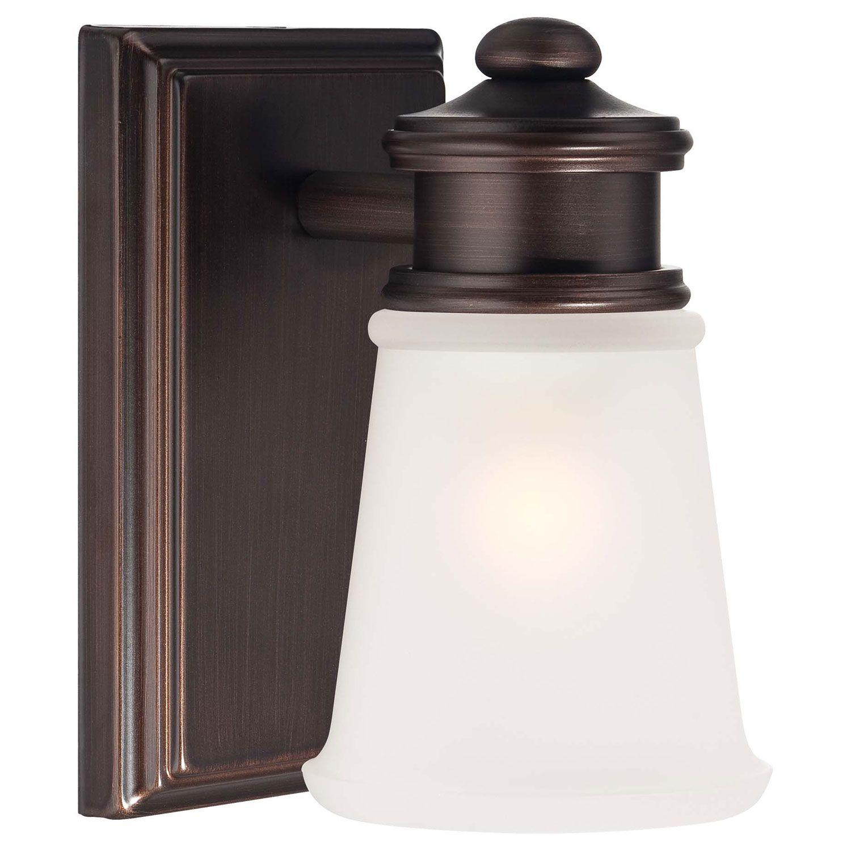 Minka Lavery One Light Bath Light In Dark Brushed Bronze ... on Bathroom Sconce Lights Brushed Bronze id=54282