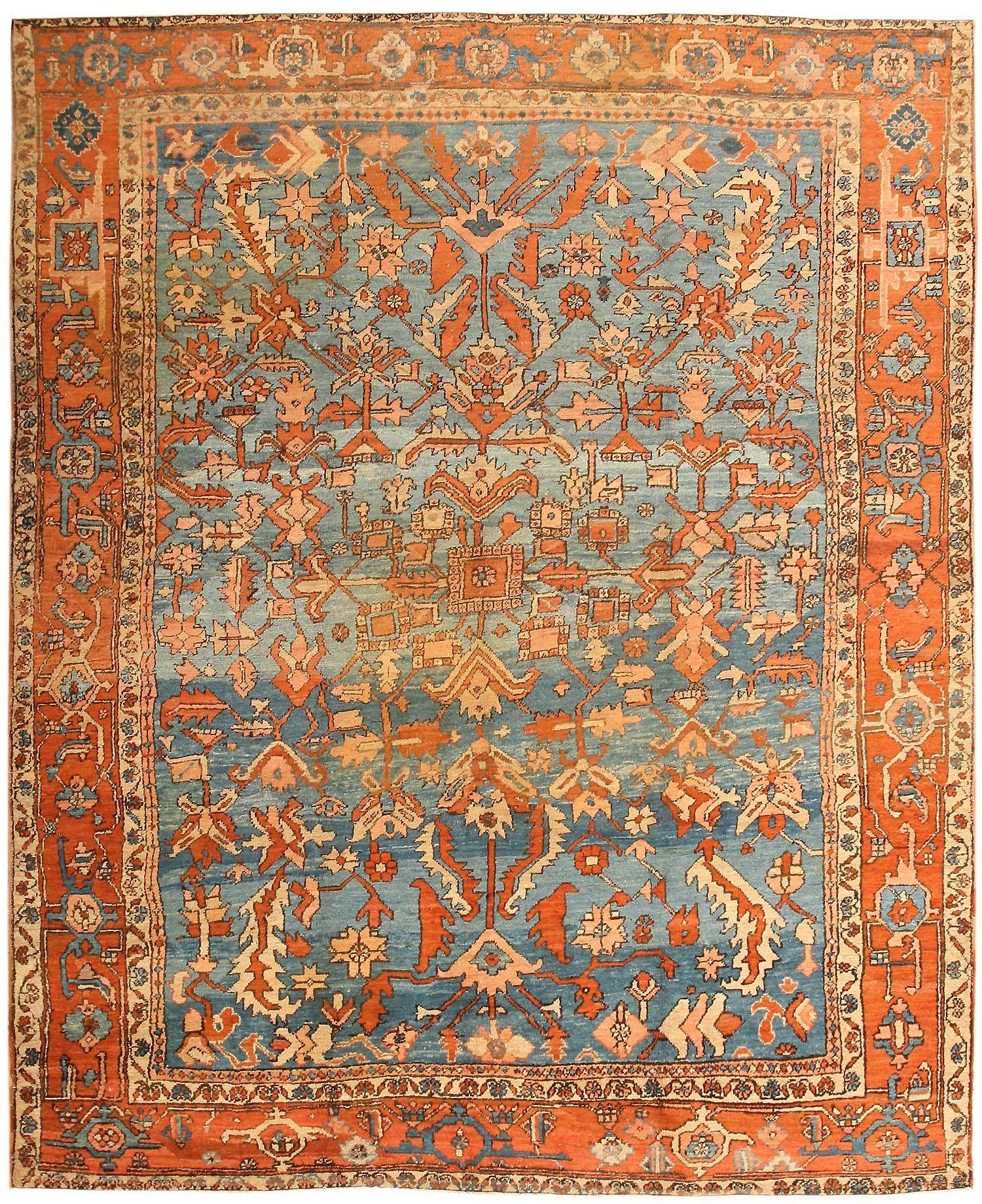 Wonderful Antique Persian Serapi Rug 43712