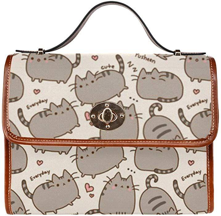 b219fb19e7 Amazon.com  InterestPrint Cute Cat Women s Waterproof Canvas Tote Shoulder  Messenger Crossbody Bag ...  Shoes