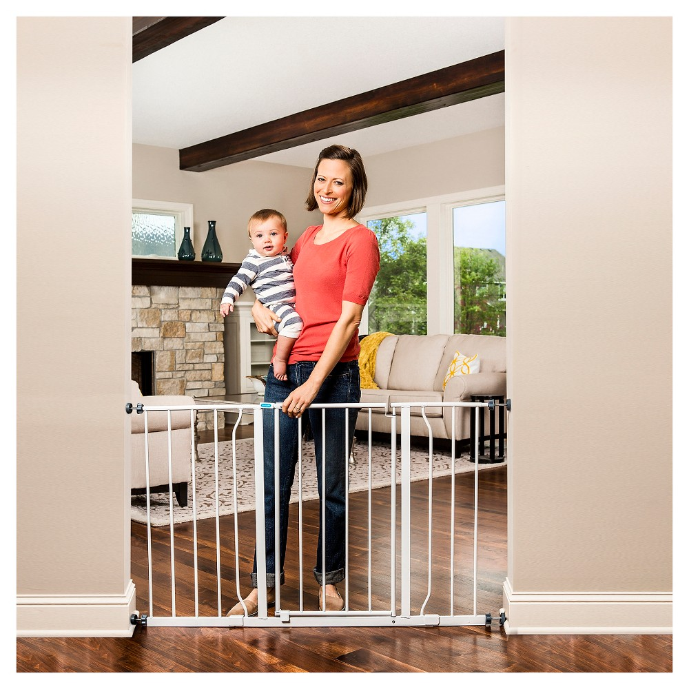 Regalo Easy Open Extra Wide Baby Gate, White Wide baby