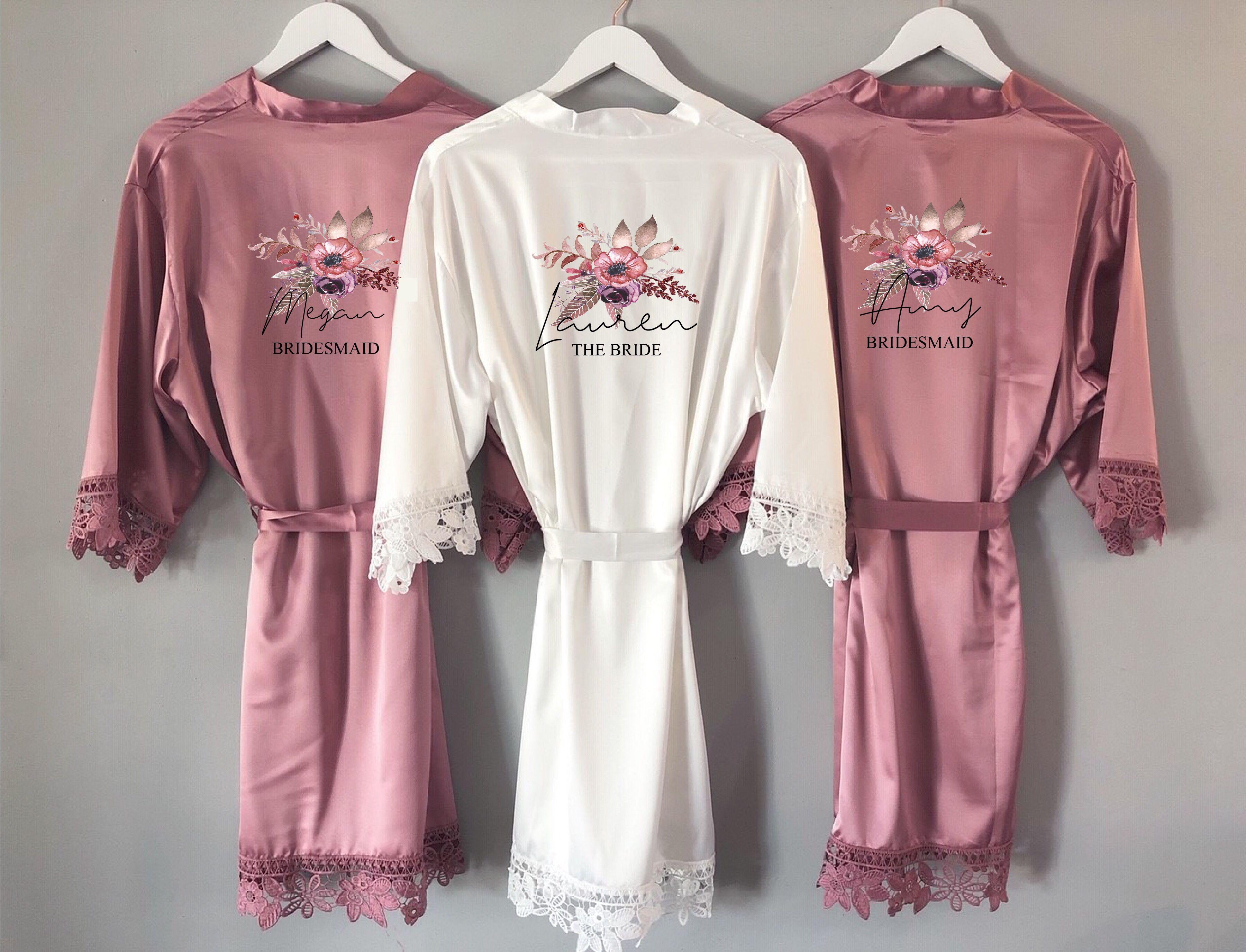 Personalised Bridal Robe,Bridesmaid Robe,Kimono,Bridal Party Robe