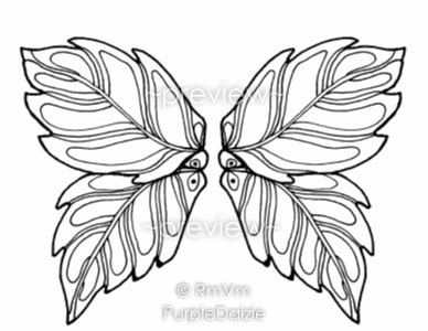 fairy wings to colour | Fairy Wings Drawing Page fairy ...