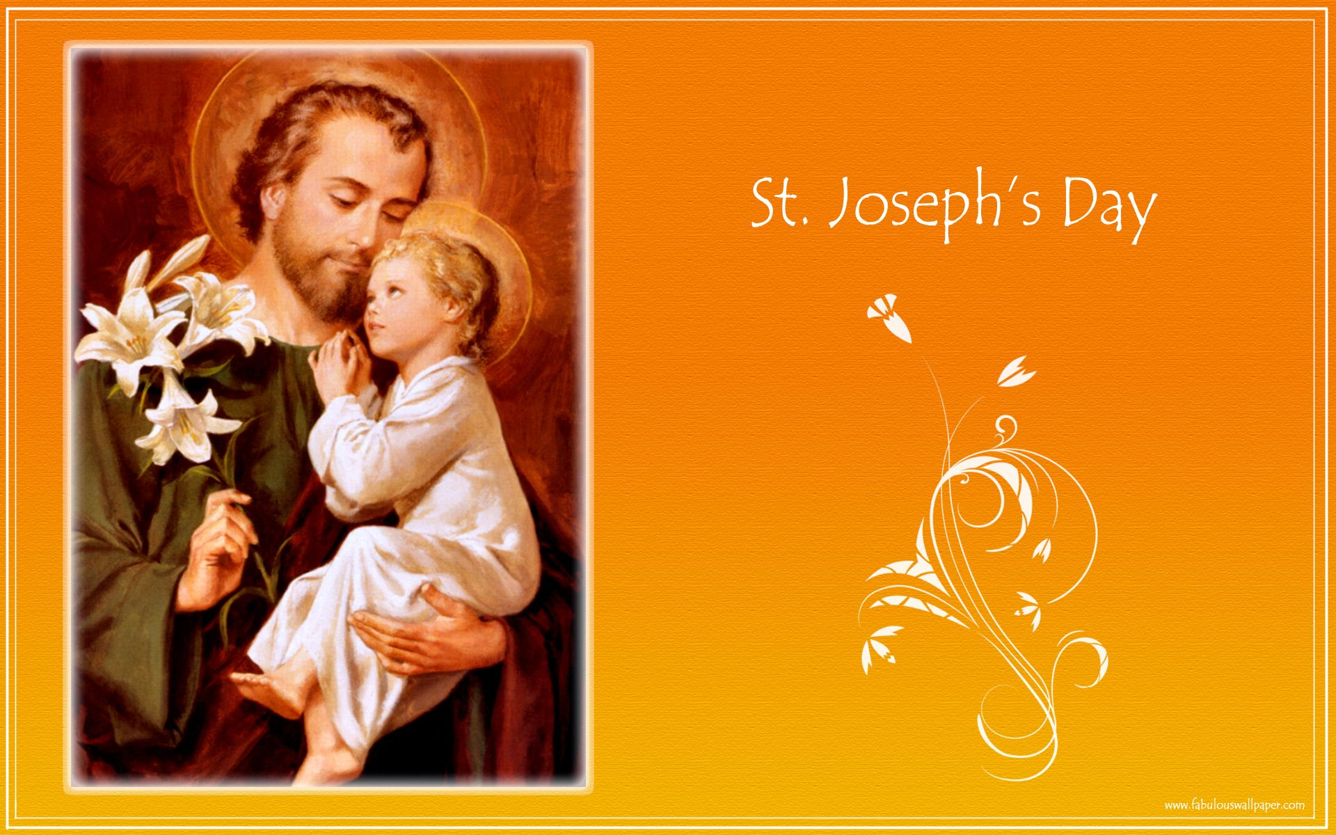 Free Photos of Saint Joseph,  Free computer desktop wallpaper, free holiday backgrounds, holiday wallpaper, happy holidays wallpaper, computer backgrounds, background wallpaper