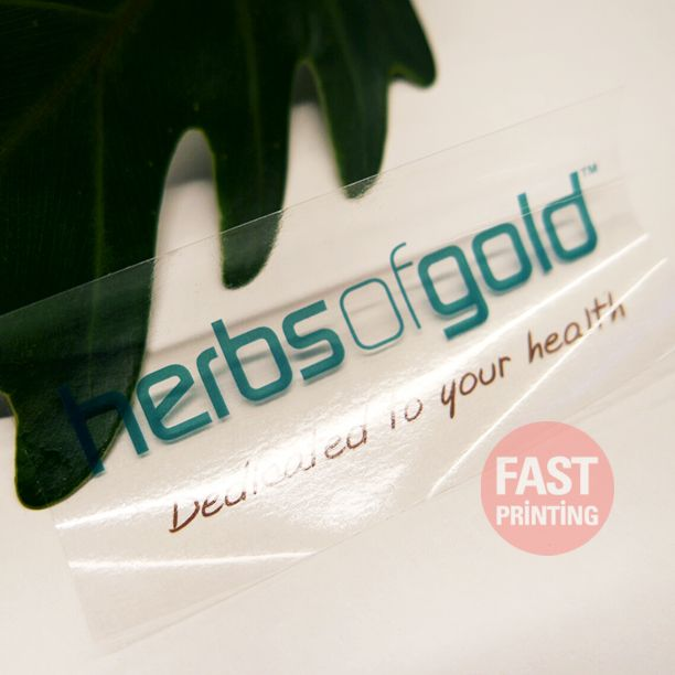 Full colour printing on clear vinyl sticke label sticker clear vinyl printing fastprinting fp