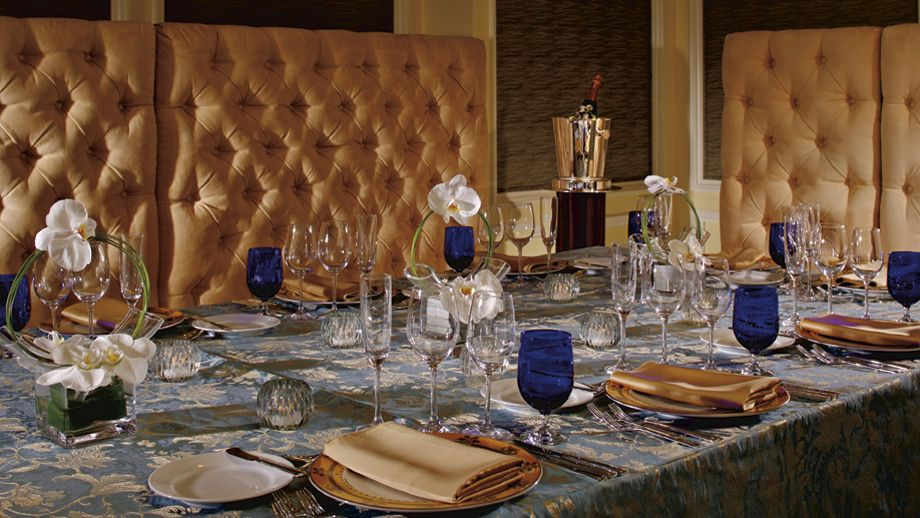 The Ritz-Carlton, Dallas banquet space is an ideal setting for both intimate dinners and large receptions.