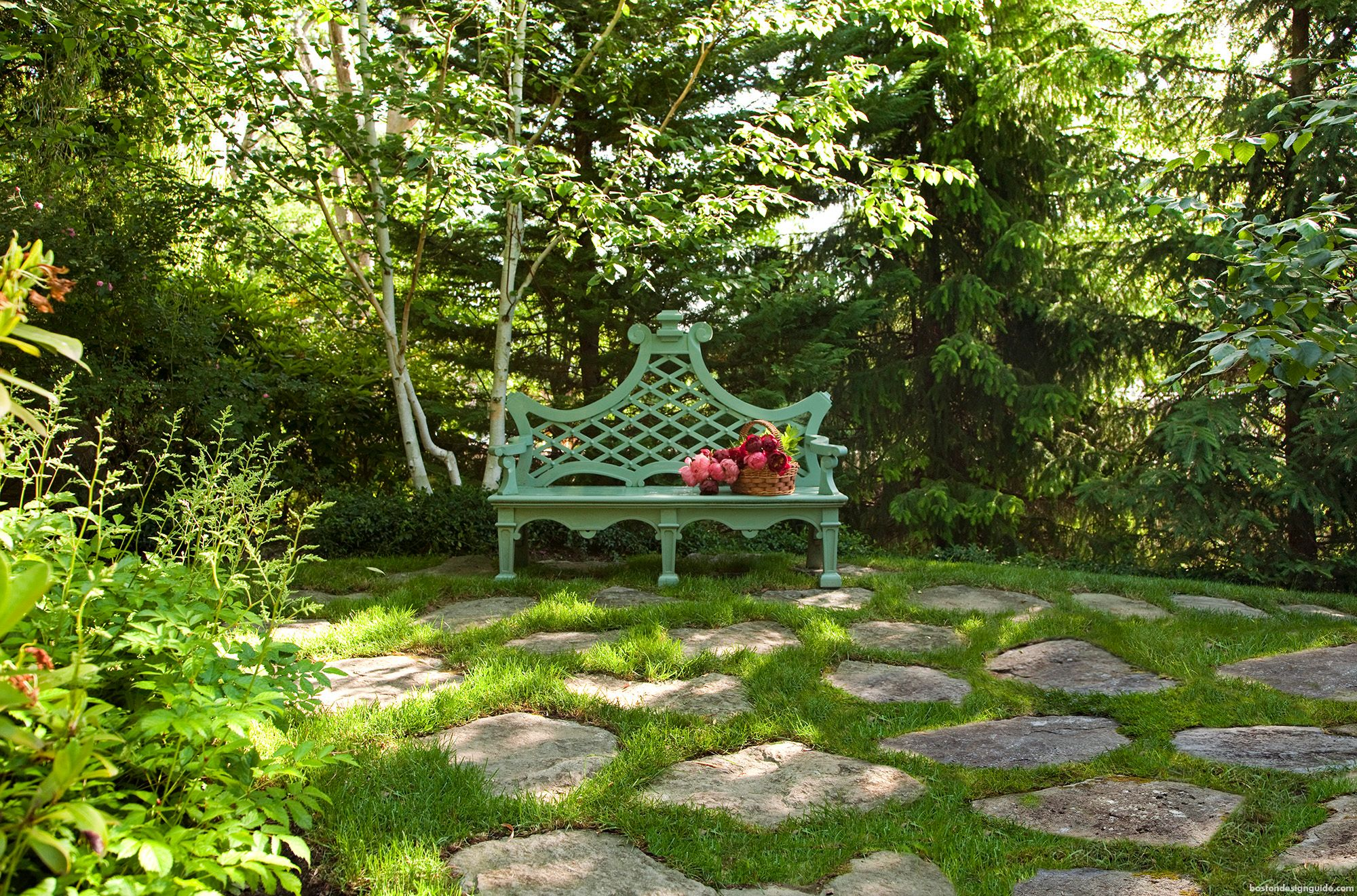 Landscape design by Gregory Lombardi Design; landscape contractor R.P. Marzilli & Company; photo by Eric Roth