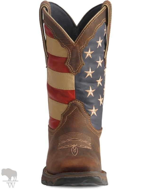 Women S American Flag Flirt Cowgirl Boots Square Toe By Durango Cowgirl Boots Square Toed Cowgirl Boots Boots