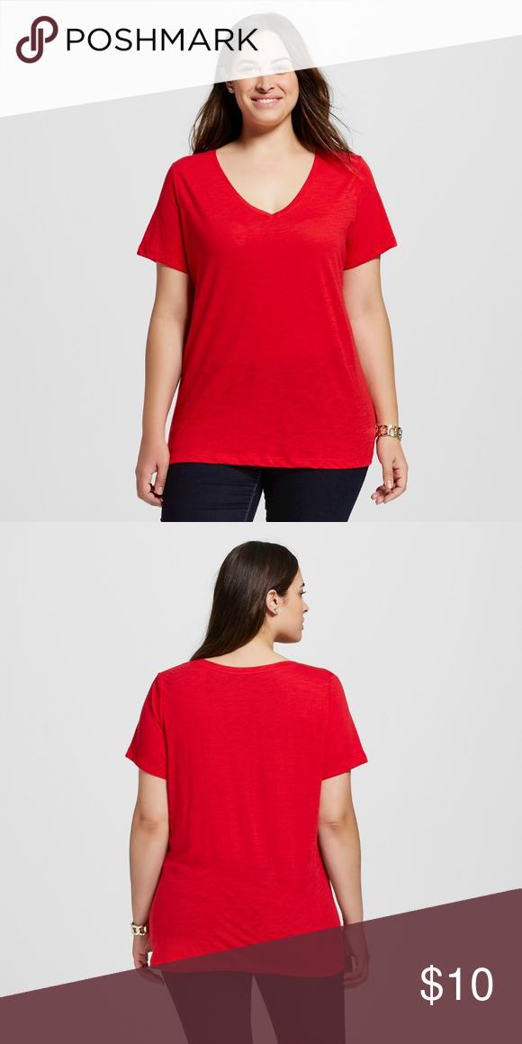 2ee53064e2d NWT Plus Size Core V-Neck T-Shirt - Ava  amp  Viv