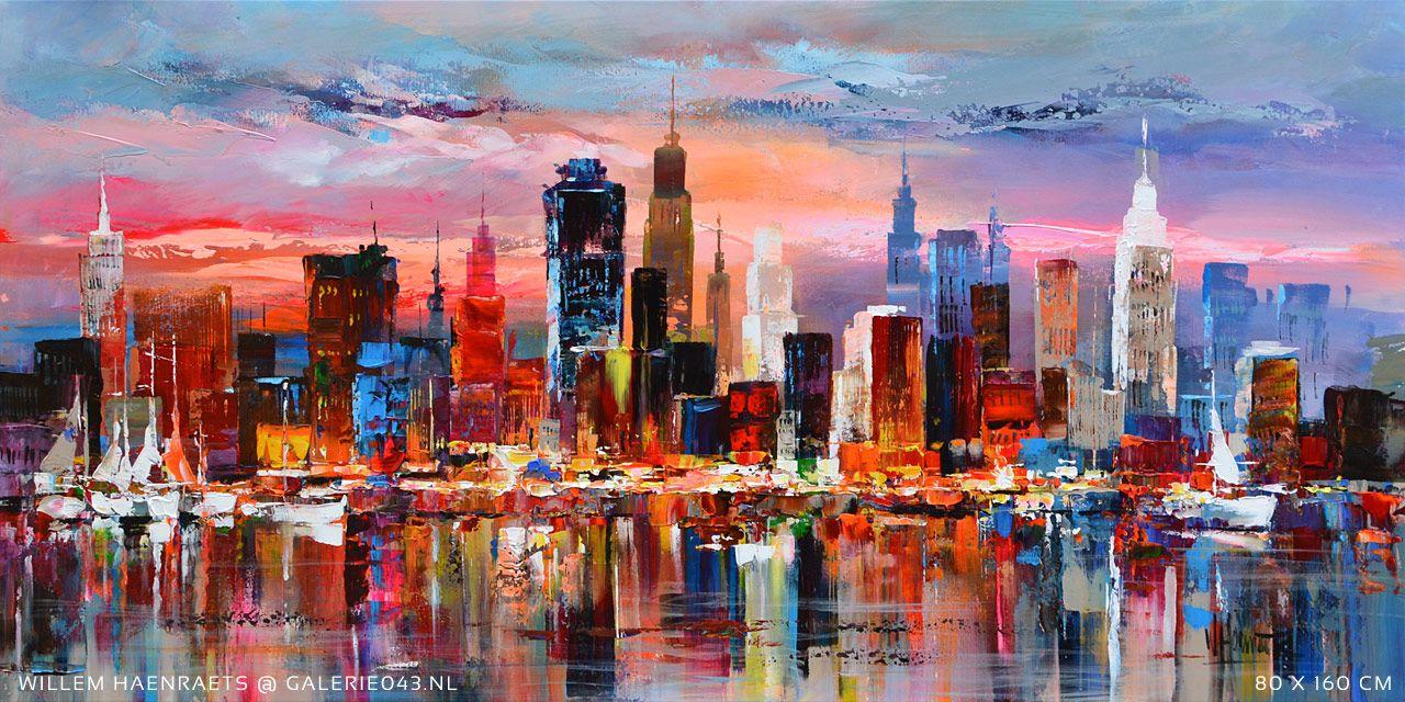 Schilderijen van skyline amsterdam en haven google for Skyline schilderij