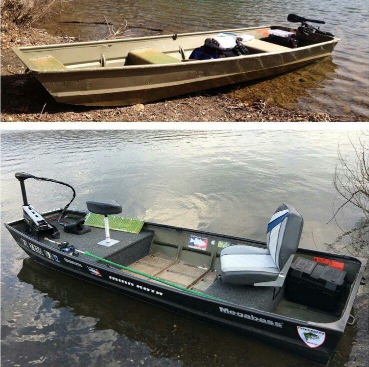 Jon boat conversion jon boat modification ideas for Jon boat bass fishing