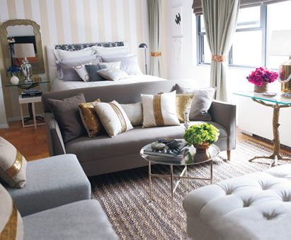 How To Make A Small Place Feel Big Studio Apartment Design Studio Apartment Layout Apartment Layout