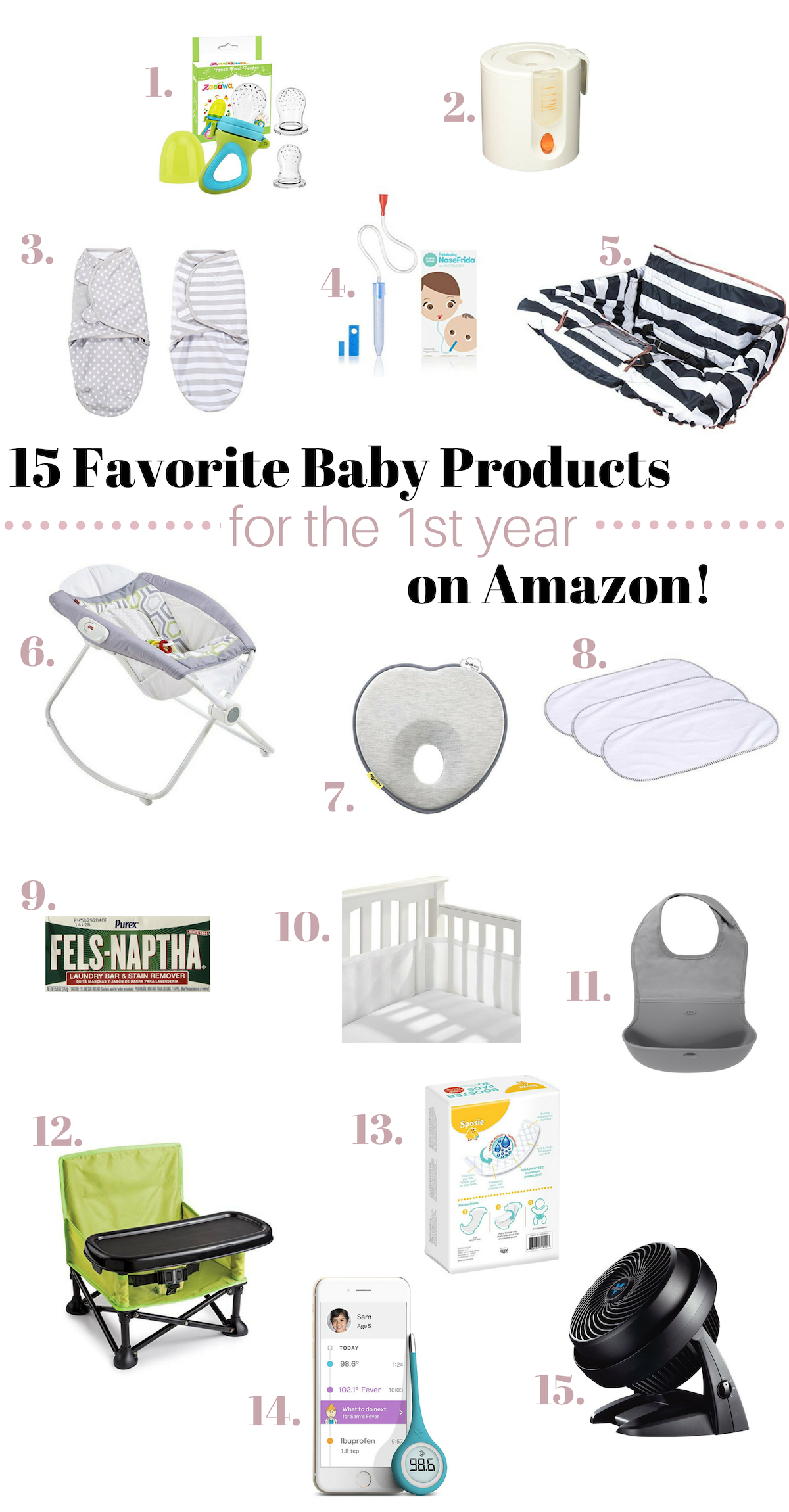 15 Favorite Baby Products For The First Year On Amazon Farm Fresh Homestead Favorite Baby Products Best Baby Items Best Baby Shower Gifts