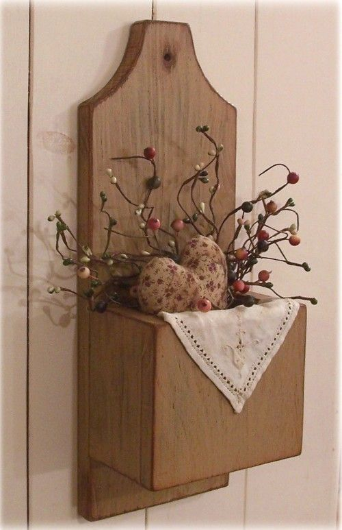 Primitive Door Box Wall Pocket Cubby Box Candle Keep / by Sawdusty $32.00 & Primitive Door Box Wall Pocket Cubby Box Candle Keep / Farmhouse Tan ...